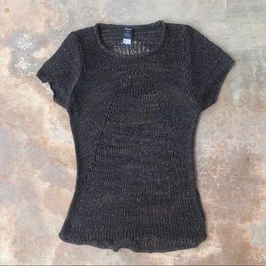 Helmut Lang Barneys Co-Op Open Knit Shirt